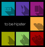 Colorful icons hipster Royalty Free Stock Photo