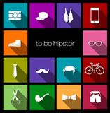 Colorful icons hipster Royalty Free Stock Photography