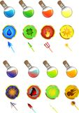 Colorful icons. Are ideal for mini games or design sites Vector Illustration