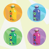 Colorful icons magic potion. Vector illustrations icons with magic potion for your design vector illustration