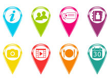 Colorful icons Stock Images