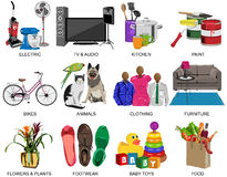 Colorful icons set for Department store Stock Photo