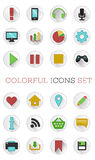 Colorful icons set Royalty Free Stock Image