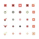 Colorful icons that shows marking choice illustrations set Royalty Free Stock Images