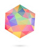 Colorful icosahedron for graphic design Royalty Free Stock Photos