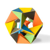 Colorful Icosahedron. A colorful icosahedron on a white background Royalty Free Stock Image