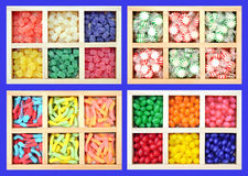 Colorful icy gummy candies Stock Images