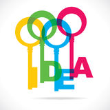 Colorful idea word key Stock Photo