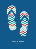 Colorful ikat chevron frame flip flops decor Stock Photos
