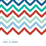 Colorful ikat chevron frame horizontal seamless Stock Image
