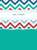 Colorful ikat chevron frame vertical torn seamless Royalty Free Stock Images