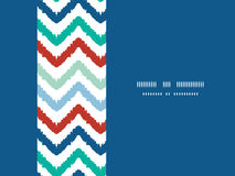 Colorful ikat chevron horizontal border seamless Stock Photo