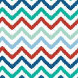 Colorful ikat chevron seamless pattern background Stock Photo