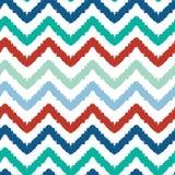 Colorful ikat chevron seamless pattern background Stock Photo