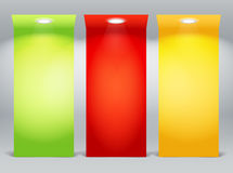 Colorful illuminated boards Royalty Free Stock Photo