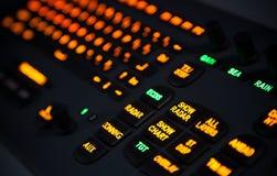 Colorful illuminated industrial keyboard Stock Photos