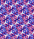 Colorful illusive abstract geometric seamless 3d pattern with tr. Ansparency effects. Vector stylized infinite backdrop, best for graphic and web design, EPS10 Royalty Free Stock Image