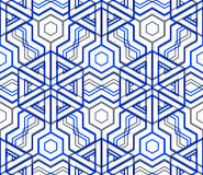 Colorful illusive abstract geometric seamless 3d pattern with tr Stock Images