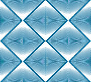 Colorful illusive abstract seamless pattern with geometric figur. Es. Vector symmetric simple backdrop Stock Images