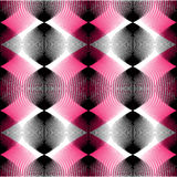 Colorful illusive abstract seamless pattern with overlapping geo Royalty Free Stock Photography