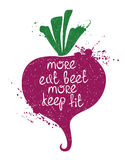 Colorful Illustration Of  Beet Silhouette. Stock Image