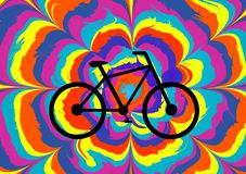 Colorful illustration for the Bicycle Day. stock illustration