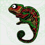 Colorful illustration of chameleon. Royalty Free Stock Photos