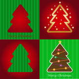 Colorful illustration with Christmas tree. vector. Stock Image