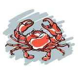 Colorful illustration of crab 2 Stock Photo