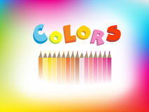Colorful illustration of crayons Stock Image