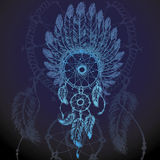 Colorful illustration of dream catcher. Royalty Free Stock Photography