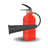 Fire extinguisher. Colorful illustration with  fire extinguisher for your design Royalty Free Stock Image