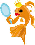 Colorful illustration with a goldfish Royalty Free Stock Photography