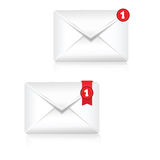 Mailbox Alert Icon Stock Photography