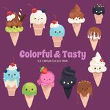 Cute Rainbow Objects Collection royalty free illustration