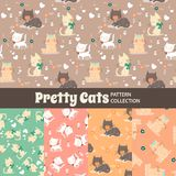 Cute Rainbow Seamless Texture Pattern Collection royalty free illustration