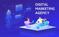 Free Colorful Illustration Of A Modern Digital Marketing Agency Stock Image - 137091751