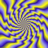 Colorful illustration of psycho spiral Stock Photo