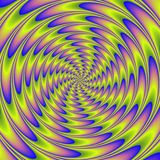 Colorful illustration of psycho spiral Royalty Free Stock Photography