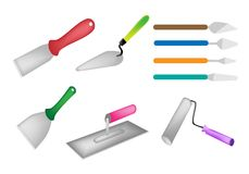Colorful Illustration Set of Builders Tools Icon Royalty Free Stock Images
