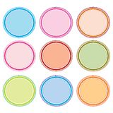 Colorful Illustration Set of Circle Frames for Des Stock Photo