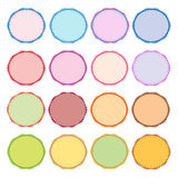 Colorful Illustration Set of Circle Vintage Label Stock Photography