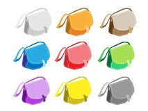 Colorful Illustration Set of Fashionable Womens Ha Royalty Free Stock Image