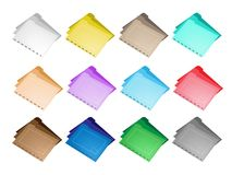Colorful Illustration Set of The Folder Icons. Illustration Collection of Colorful File Folder Icons for Backups and Storing of Data Royalty Free Stock Photography