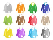 A Colorful Illustration Set of Jacket Suit Royalty Free Stock Photography