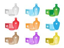 A Colorful Illustration Set of Medical Device Stock Images