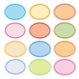 Colorful Illustration Set of Oval Frames for Desig Stock Images