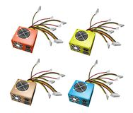 Colorful Illustration Set of Power Supply Box Royalty Free Stock Images