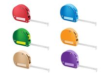 Colorful Illustration Set of Tape Measure Icons Stock Photos