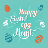 Colorful illustration with the title Happy Easter Egg Hunt. Colorful illustration with the title Happy Easter Egg Hunt Stock Image